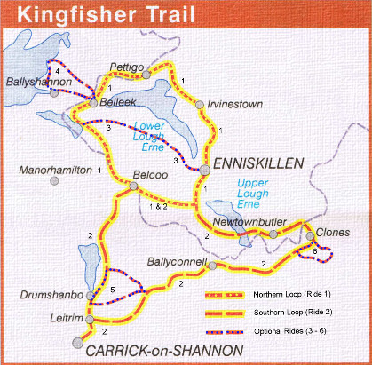 King Fisher Trail Mini Map